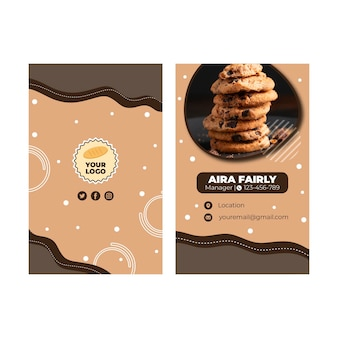 Cookies business card template