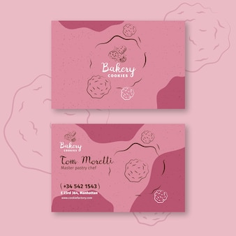 Cookies double sided business card