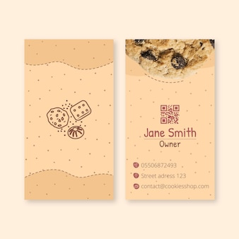 Cookies double-sided business card