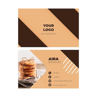 Cookies double-sided businesscard h