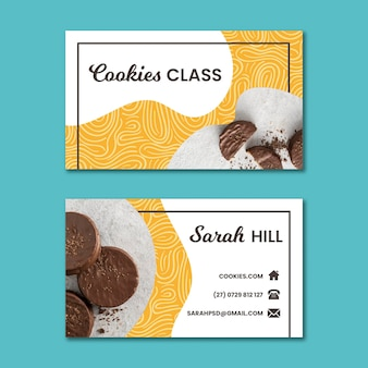 Cookies double-sided horizontal business card
