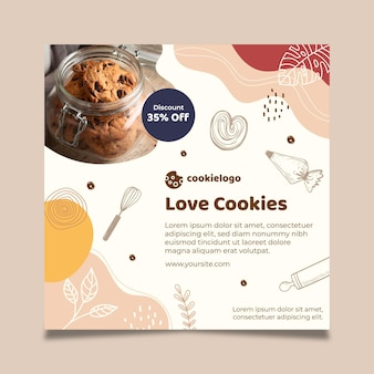 Cookies flyer template theme