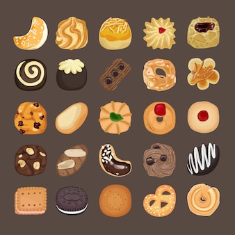 Cookies icons