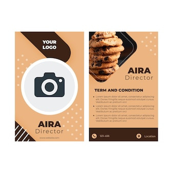 Cookies id card concept
