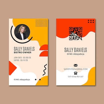 Cookies id card template