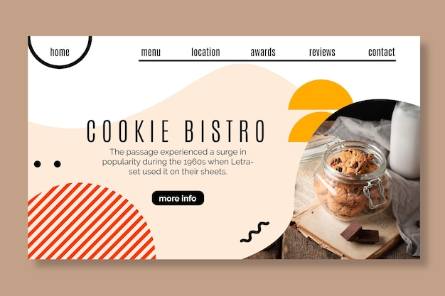 Cookies landing page template