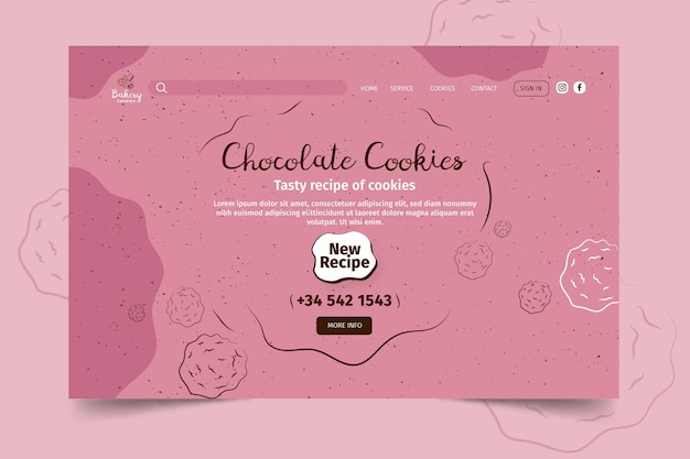 Cookies landing page template