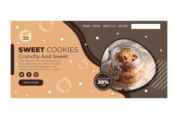 Cookies landing page