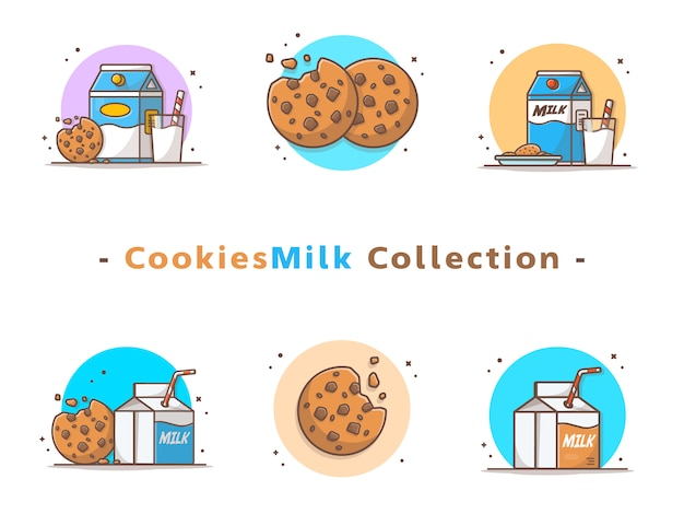Cookies and milk collection