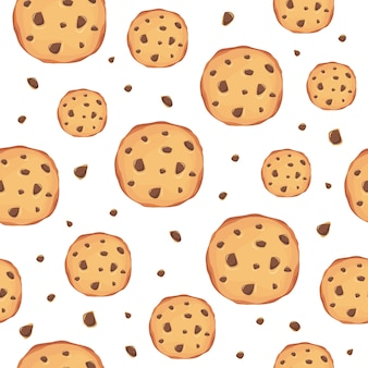 Cookies pattern background