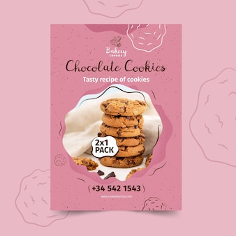 Cookies poster template with photo