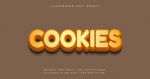 Cookies snack playful text style font effect