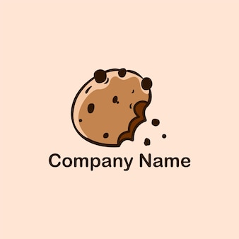 Cookies vector logo design template