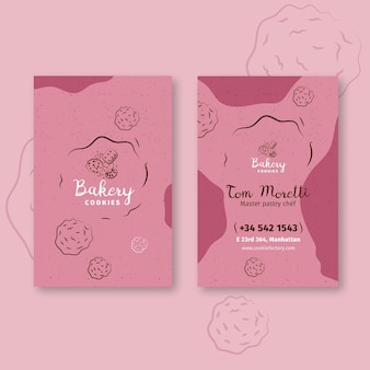 Cookies vertical double sided business card