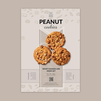Cookies vertical poster template
