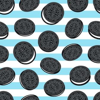 Cookies бесшовные шаблон