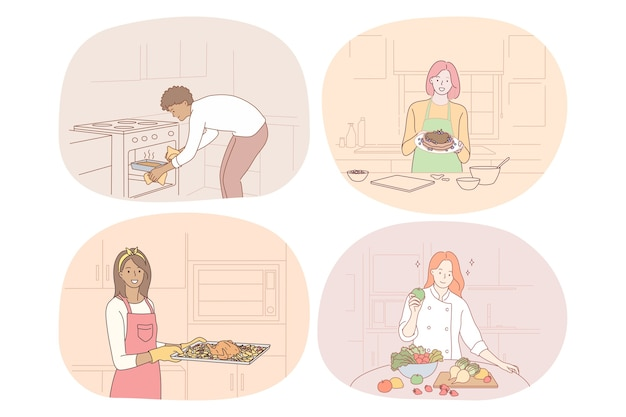 Кулинария, выпечка, рецепт, шеф-повар, повар, концепция питания.