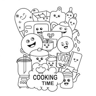 料理の落書き