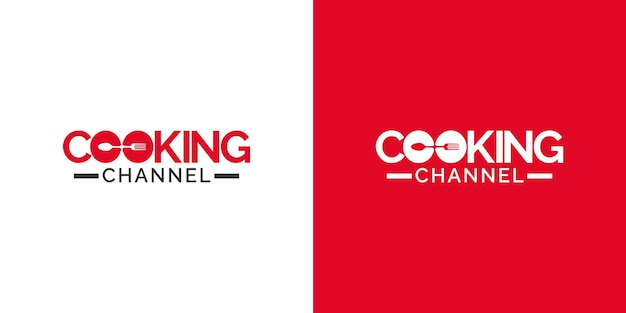 Cooking channel logo design template