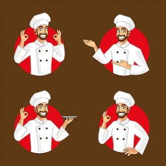 Кулинария шеф-повара дизайн персонажей