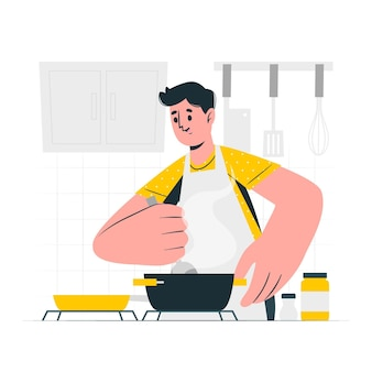 Cooking concept illustration