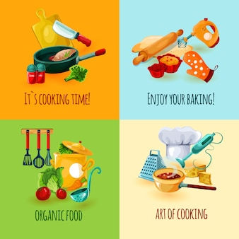 Концепция дизайна кулинарии