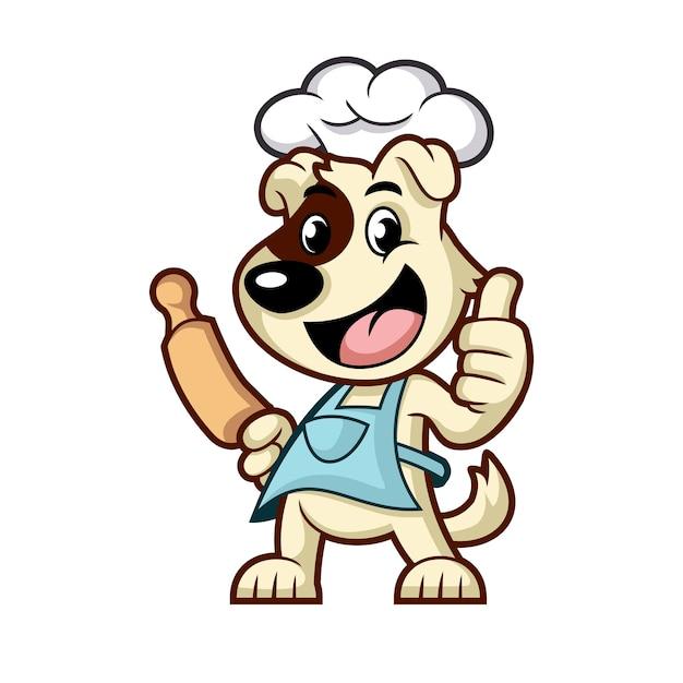 料理犬のマスコットデザイン