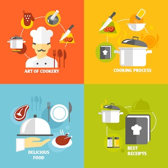 Cooking elements flat
