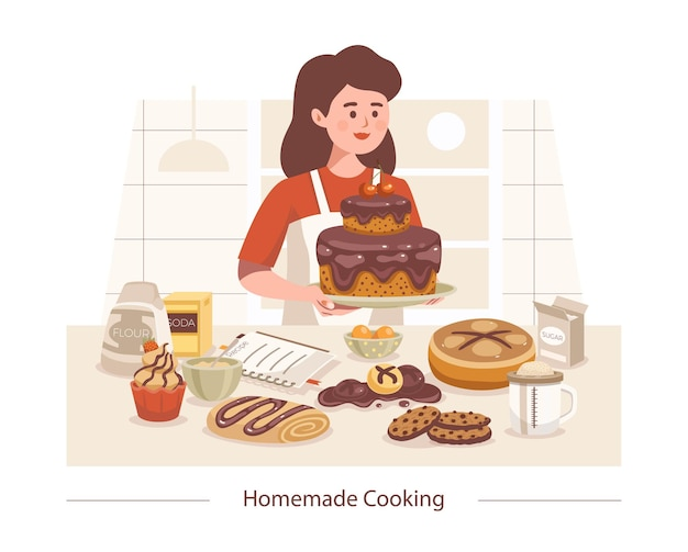 Cooking homemade composition