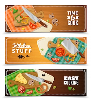 Cooking horizontal banners