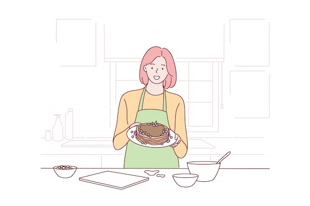 Cooking, housewife, proposal, advertising concept