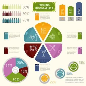 Кулинарные инфографические иконки