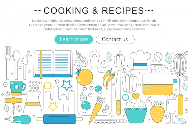 Cooking and kitchen recipes concept