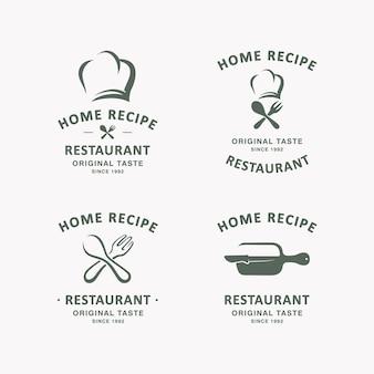 Набор шаблонов логотипа кулинарии