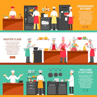 Cooking master class horizontal banners