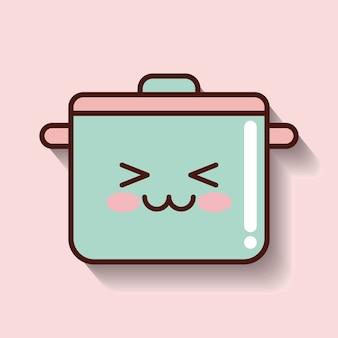 Cooking pot icon design