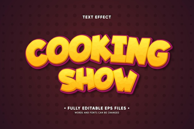 Cooking show text effect