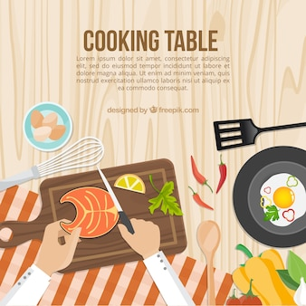 Cooking table template