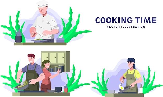 調理時間-活動ベクトル図