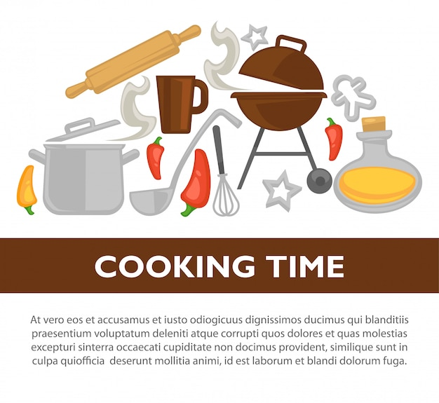 Cooking time background