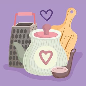 Cooking utensil cartoon