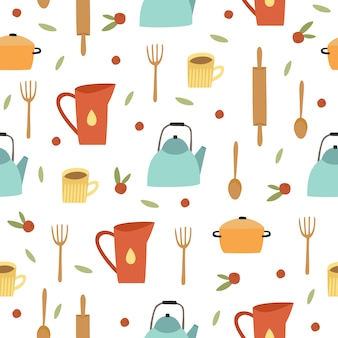 Cooking utensils pattern