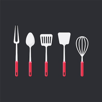 Cooking utensils set vector illustration