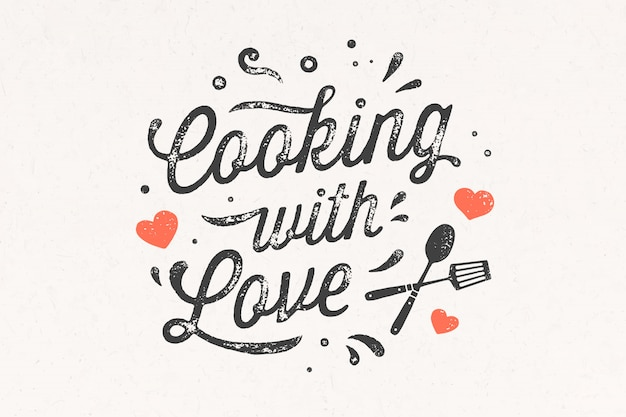 Cooking with love. kitchen poster. kitchen wall decor, sign, quote