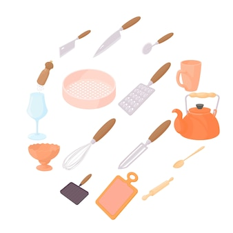 Cookware icons set