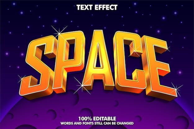 Прохладный трехмерный золотой текстовый эффект с пространством