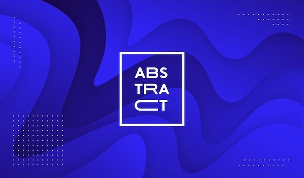 Прохладный абстрактный жидкий фон вектор дизайн. модный волнистый фон papercut.