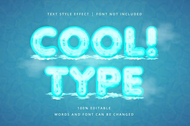 Холодный и холодный редактируемый текстовый эффект