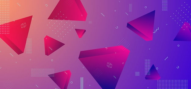 Cool background with geometric 80s design