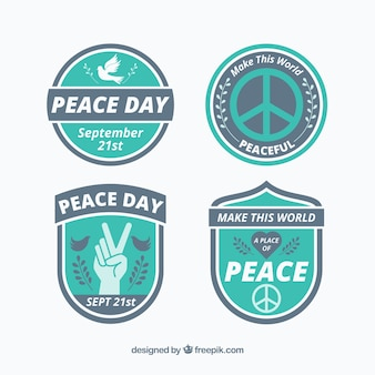 Cool badges for day of peace